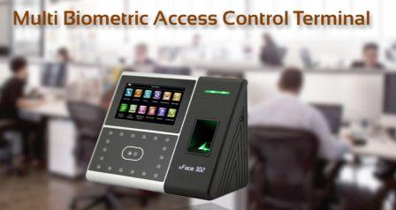 Multi Bio uface 302 with face and fingerprint recognition access control system