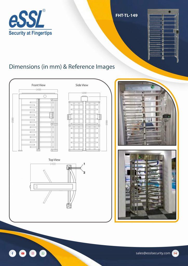 Installation photo of Full height turnstile